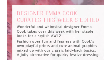 DESIGNER EMMA COOK CURATES THIS WEEK'S EDITED - Shop all Edited picks