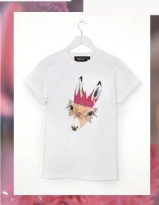 Deer Print Tee By Emma Cook
