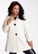 Wool Blend 3 Button Swing Coat