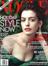 Anne Hathaway Vogue Vera Wang