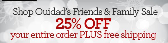 Shop Ouidad's Friends & Family Sale - 25% OFF your entire order PLUS free shipping