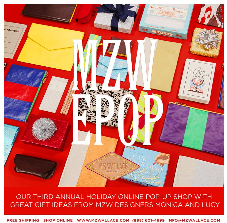 Shop our third annual holiday pop-up shop with great gift ideas from MZW designers Monica and Lucy.