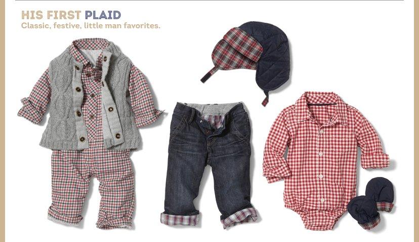 HIS First Plaid | Classic, festive, little man favorites.