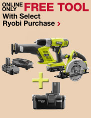 Free Tool With Select Ryobi Purchase