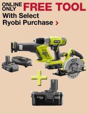 Free Tool With Select Ryobi Purchase