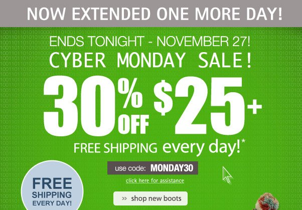 30% Off Extended + Free Shipping