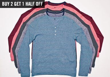 Shop Premium Winter Layers: Henleys & Ts