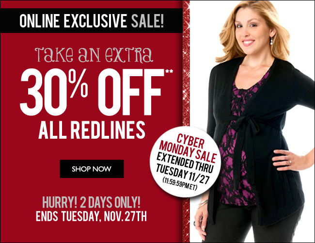 Online Only: Take an Extra 30% Off All Redlines