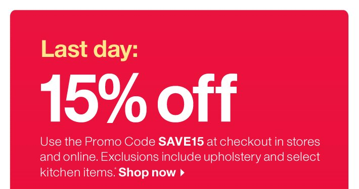 Crate And Barrel: Final Hours: 15% Off. Free Shipping. Free Furniture  Delivery. | Milled