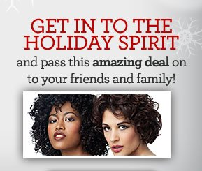 GET IN TO THE HOLIDAY SPIRIT and pass this amazing deal on to your friends and family!