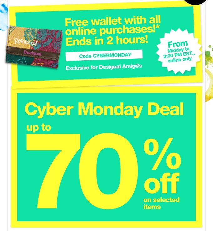 Cyber Monday Deal. Up to 70% off