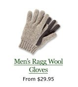 Men's Ragg Wool Gloves, from $29.95