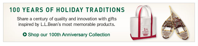 100 Years of Holiday Traditions. Share a century of quality and innovation with gifts inspired by L.L.Bean's most memorable products.