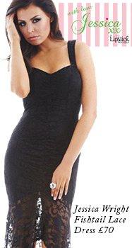 Jessica Wright Fishtail Lace Dress