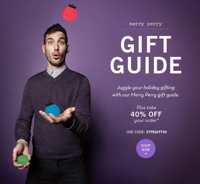 Shop Our Merry Perry Gift Guide + 40% Off Your Order
