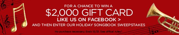Holiday Songbook Sweepstakes