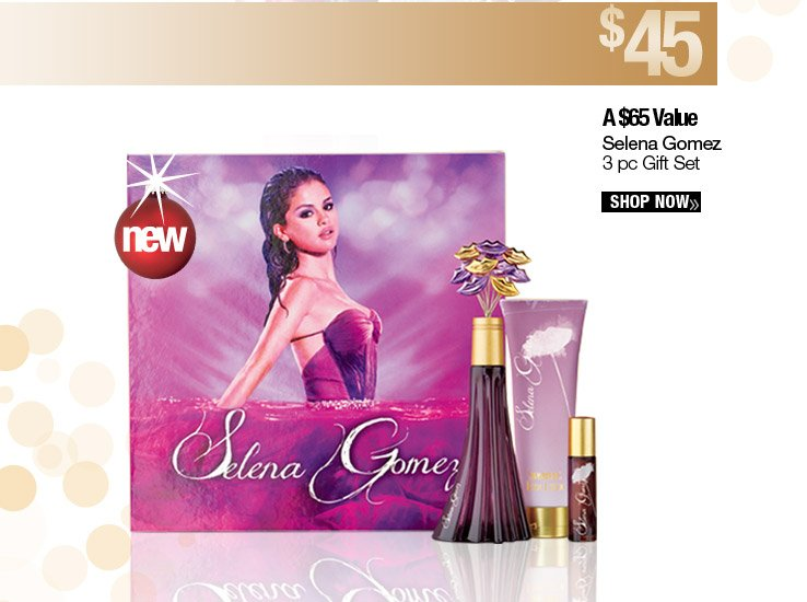 Selena Gomez 3 pc Gift Set