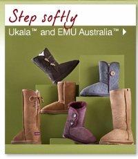 Step softly. Ukala™ and EMU australia™.