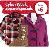 Cyber Week Apparel Specials