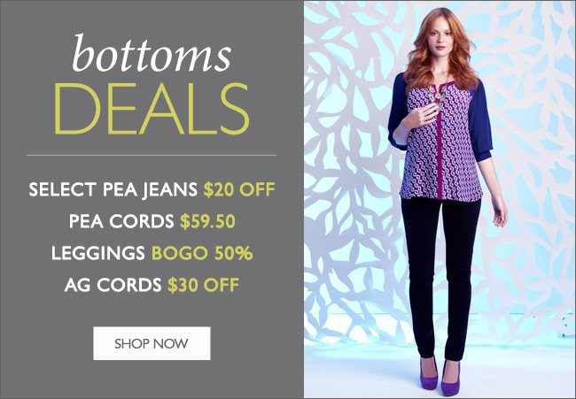 Bottoms Deals: Jeans, Cords, and Leggings