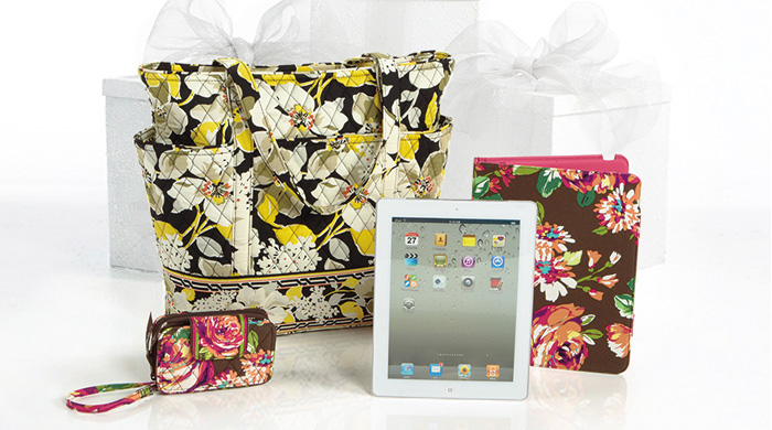 Win an iPad, Tablet Folio, Smart Phone Wristlet and Go Round Tote!