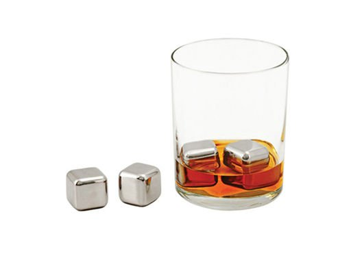 These glacier rocks have stepped up our at-home bar game because they keep the bourbon we sip cool, without diluting the drink.