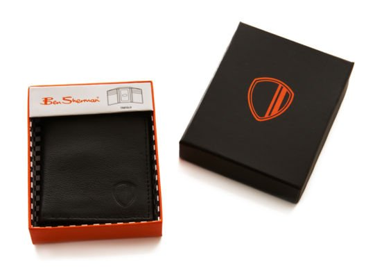 A sleek, stylish leather wallet like this one is the perfect gift for any guy on your list.