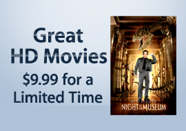 Great HD Movies - $9.99 for a Limited Time