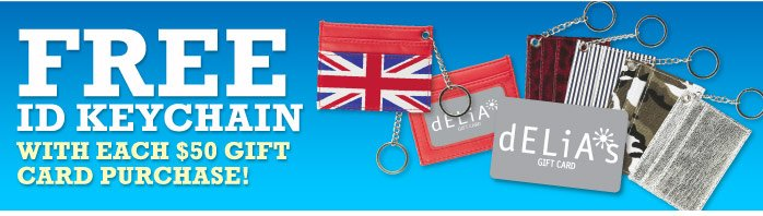 FREE ID KEYCHAIN WITH EACH $50  GIFT CARD PURCHASE