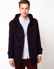 Gloverall Made In London Wool Checkback Duffle Coat
