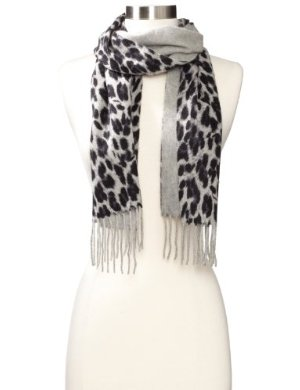 Amicale <br/> Cashmere Leopard-Print Scarf