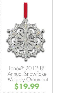 Lenox® 2012 8th Annual Snowflake Majesty Ornament $19.99