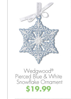Wedgwood® Pierced Blue & White Snowflake Ornament  $19.99