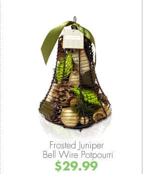 Frosted Juniper Bell Wire Potpourri $29.99