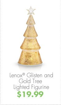 Lenox® Glisten and Gold Tree Lighted Figurine $19.99