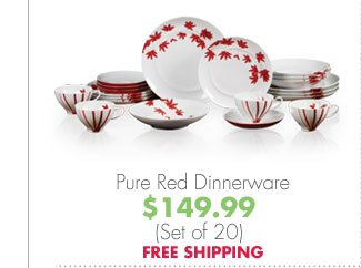 Pure Red Dinnerware $149.99 (Set of 20) FREE SHIPPING