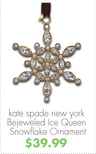 kate spade new york Bejeweled Ice Queen Snowflake Ornament $39.99