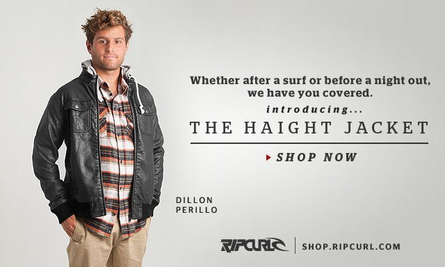 Whether after a surf or before a night out, we got you covered. Introducing... The Haight Jacket. Shop The Haight Jacket -Dillon Perillo shop.ripcurl.com