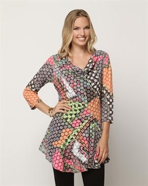 Lynn Ritchie Printed Cowl Neck Tunic