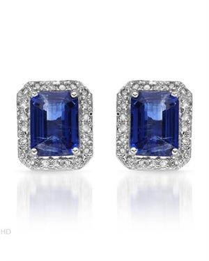 Ladies Diamond Earrings Designed In 10K White Gold