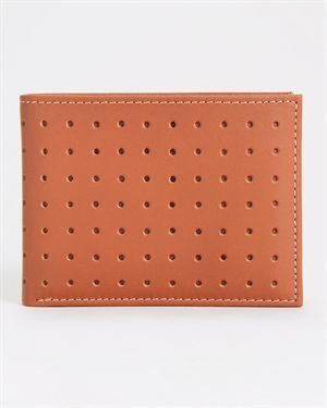 Joseph Abboud Perforated Leather Passcase