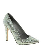 ASOS PARIS Glitter Pointed High Heels
