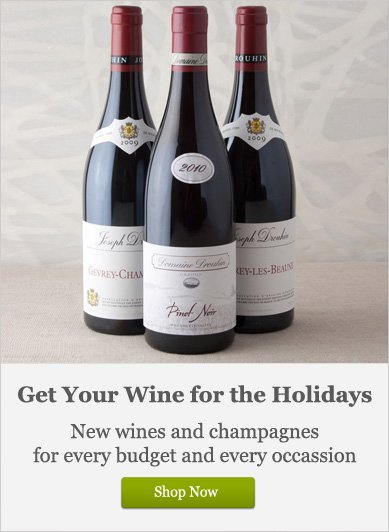 Get Your Wine for the Holidays - Shop Now