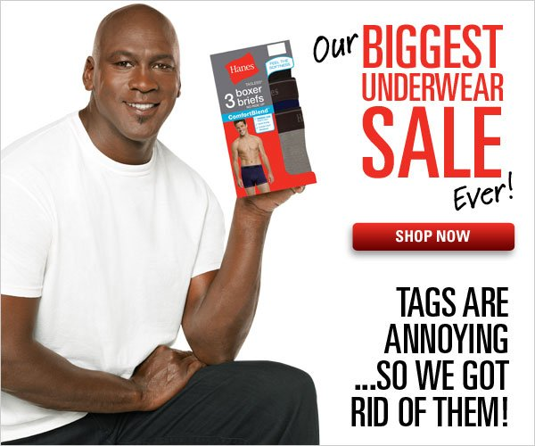 Biggest Underwear Sale Ever