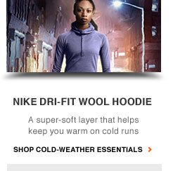 NIKE DRI FIT WOOL HOODIE | A super soft layer that helps keep you warm on cold runs | SHOP COLD WEATHER ESSENTIALS