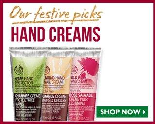 Our festive picks hand creams