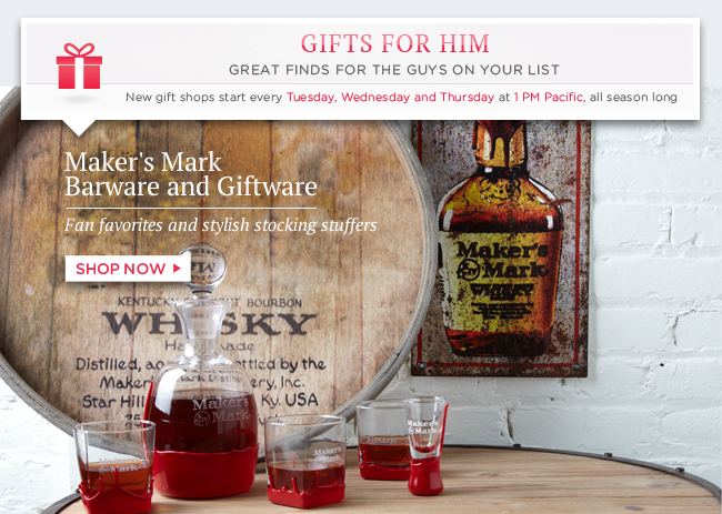 Shop Maker's Mark Barware and Giftware