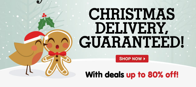 Christmas Delivery Guaranteed! With deals up to 80% off!