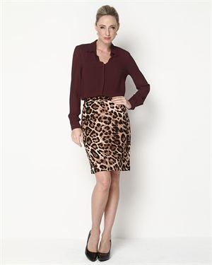 Anthracite By Muse Animal Printed Skirt