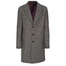 Paul Smith Coats - Grey British Tweed Epsom Coat